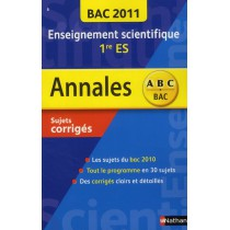 Enseignement scientifique - 1Ere ES - Bac 2011