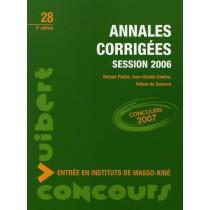 Concours entrée masso-kinésithérapie - Annales corrigées (session 2006)