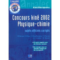 Concours Kine 2002 Physique Chimie