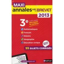 Mathématiques - Français - Histoire - Géographie - Education civique - 55 Sujets corrigés - 2013