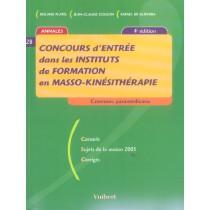 Concours Entree Dans Les Instituts De Formation En Masso-Kinesitherapie