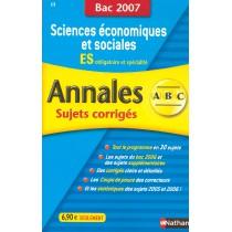 Sciences économiques et sociales - Terminale es - Obl et spé (édition 2007)