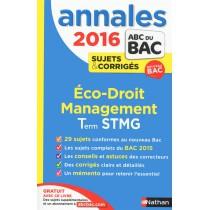 2016 : Economie, droit, management des organisations - Terminale STMG