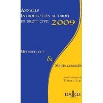 Introduction au droit et droit civil - Méthodologie et sujets corrigés (édition 2009)