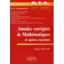 Annales Corrigees De Mathematiques Et Autres Exercices Bts Groupement D