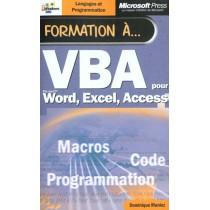 Formation A Vba Pour Microsoft Word Excel Et Access