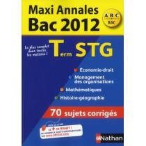 Terminale STG - Sujets corrigés (édition 2012)
