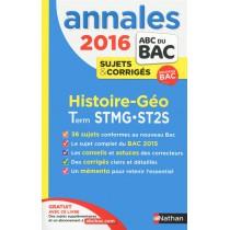 2016 - Histoire-géographie - Term STMG-ST2S