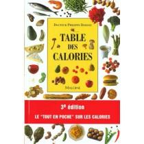 Table Des Calories - 3E Edition