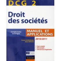 DCG 2 - Droit des sociétés - Manuel et applications, questions de cours corrigées (édition 2010/2011)