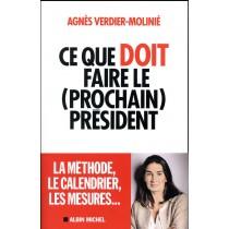 Ce Que Doit Faire ( Le Prochain) President