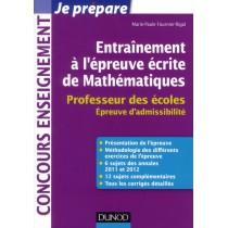 Entraînement à l'épreuve écrite de mathématiques - Professeur des écoles - Epreuve d'admissibilité
