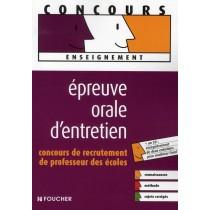 Epreuve orale d'entretien CRPE avec cd audio (édition 2008)