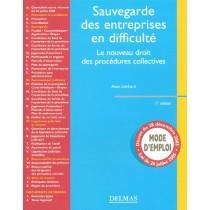 Sauvegarde Des Entreprises En Difficulte - Le Nouveau Droit Des Procedures Collectives