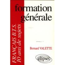 Formation Generale Francais Bts 10 Ans De Sujets