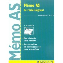 Memo As De L'Aide-Soignant - Modules 7 A 12