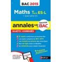 Annales Bac 2015 Maths Term Es