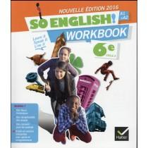 Anglais - 6Eme - Workbook (édition 2016)