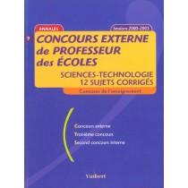 Concours Externe De Professeur Des Ecoles Sciences Technologie - 12 Sujets