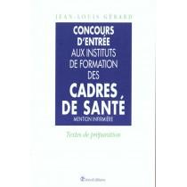 Concours D'Entree Dans Les Instituts De Formation Des Cadres De La Sante