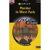 Murder in west park - Anglais - De la 4ème à la 3ème