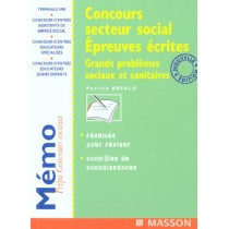 Concours Secteur Social Epreuves Ecrites - 2E Edition
