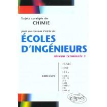 Sujets Corriges De Chimie Poses Aux Concours D'Entree Des Ecoles D'Ingenieurs Niveau Terminale S