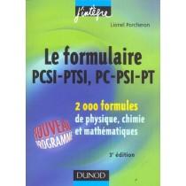 Le Formulaire Pcsi-Ptsi, Pc-Psi-Pt - 2000 Formules De Physique, Chimie Et Mathematiques