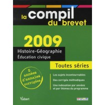 Histoire-géographie, éducation civique - 5 Années d'annales corrigées - Série collège (édition 2009)