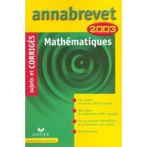 Annabrevet - Mathematiques - Sujets Et Corriges