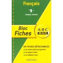 Français - 1Eres - Toutes séries - Bloc fiches
